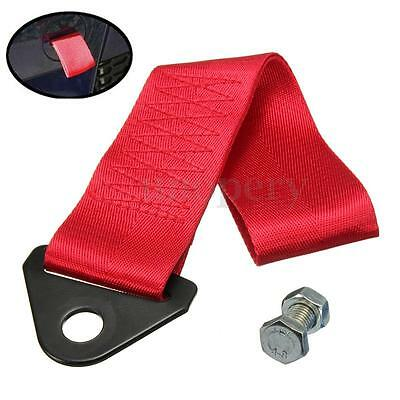 Red Tow Strap Racing Belt Universal Recovery Hook For JDM Race Car 11″x2″ 4 tons
