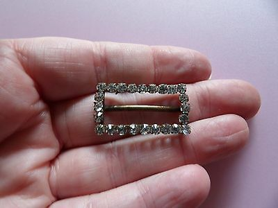 Fab Small Victorian Rectangular Brass Backed Paste Buckle                 B1