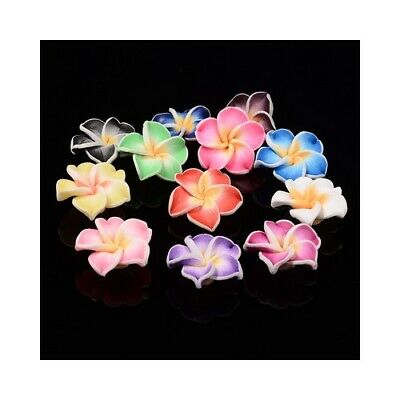 Packet of 10 x Mixed Polymer Clay 10 x 20mm Flower Beads HA24215