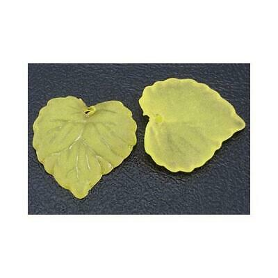 Lucite Leaf Beads 15 x 16mm Yellow 50+ Pcs Art Hobby DIY Jewellery Making Crafts