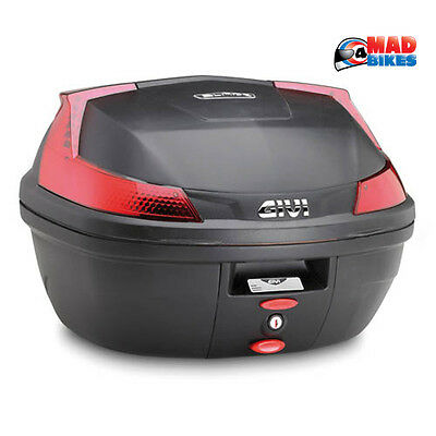 Givi B37 Blade Motorcycle  Scooter  motorbike Top Box & Universal mounting Plate