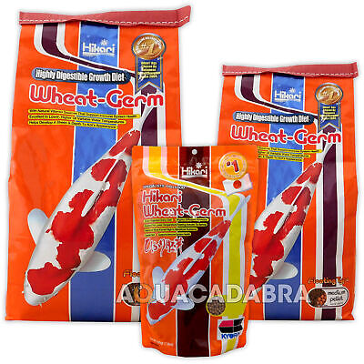 Hikari Wheatgerm Pellets Mini Medium Large Food 500G 2Kg 5Kg Pond Koi Goldfish