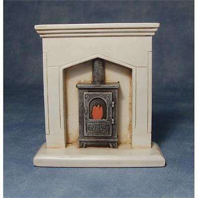 Dolls House 12th Scale Fire Surround & Wood burner DF705