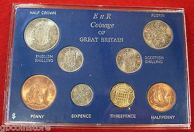 1963 VINTAGE 8 COIN SET 54th BIRTHDAY,ANNIVERSARY GIFT COINS IN MINT CONDITION
