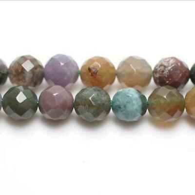Fancy Jasper Faceted Round Beads 8mm Mixed 44+ Pcs Gemstones Jewellery Making