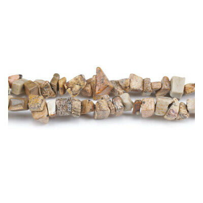 Long Strand Of 240+ Pale Beige Picture Jasper 5-8mm Chip Beads GS3223