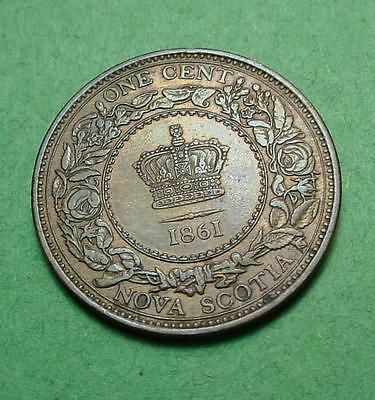 Nova Scotia Cent 1861 High Grade Great Toning A Super Cent #jf27  Mf#5003