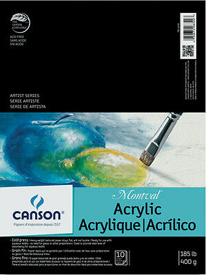 Canson Montval Acrylic Paper Pad 9x12 100511035