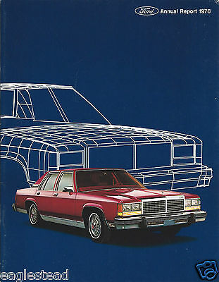 Annual Report - Ford Motor Company - 1978 - LTD Falcon cover (AB901)
