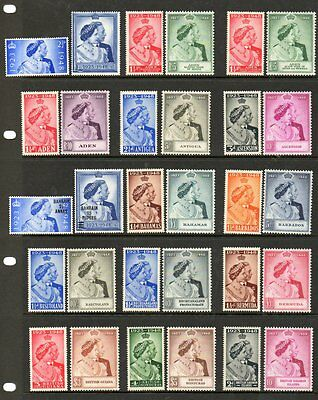 1948 Silver wedding complete Omnibus Issue superb unmounted mint set 138 stamps