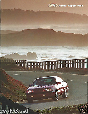 Annual Report - Ford Motor Company - 1986 Thunderbird Turbo Coupe cover (AB908)