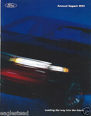 Annual Report - Ford Motor Company - 1991 - Lincoln Mark VIII cover (AB912)