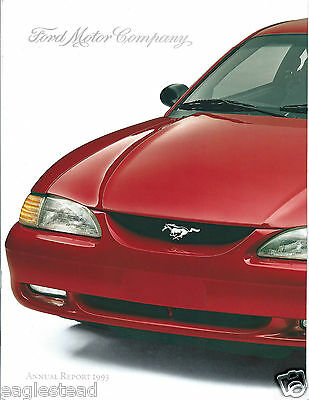 Annual Report - Ford Motor Company - 1993 - Mustang cover (AB914)