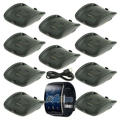 10 x Charging Dock Charger Cradle For Samsung Galaxy Gear S Smart Watch SM-R750