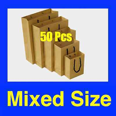 50 Mixed Size Brown Kraft Paper Bags