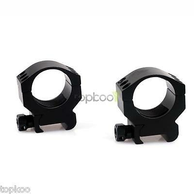 2X Tactical 30mm Low Profile Scope Mount Ring for 20mm Weaver Picatinny Rail