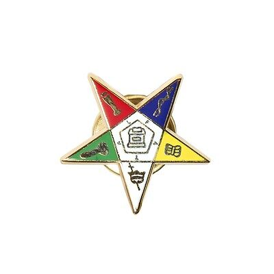 OES - Cool Star Lapel Pin - 1 inch -New! Order of the Eastern Star