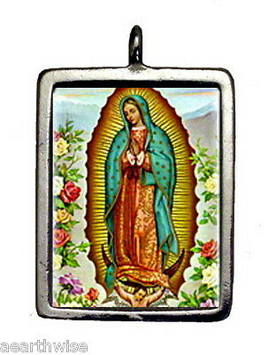 VIRGIN OF GUADALUPE & CROSS PENDANT - Wicca Pagan Witch Goth