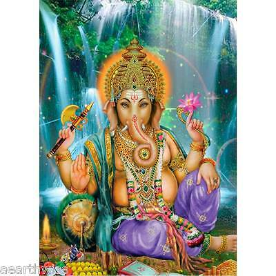 GANESHA RAYON WALL HANGING BANNER Wicca Witch Pagan Yoga Hindu REMOVE OBSTACLES