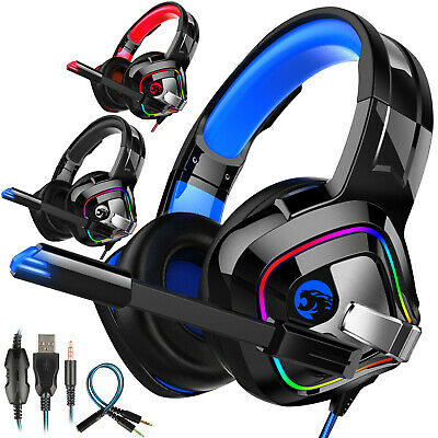 Pro Gamer Headset For PS4 PlayStation 4 Xbox One & PC Computer Gaming Headphones