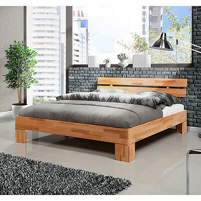 bett doppelbett 200x200cm kernbuche buche massiv holz neu. Black Bedroom Furniture Sets. Home Design Ideas