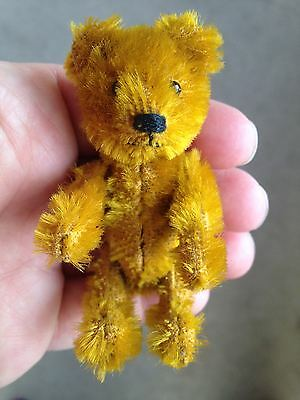 "Early Rare Antique Miniature 3.5"" Mohair Schuco Bear Perfume ? Must See No Res!"