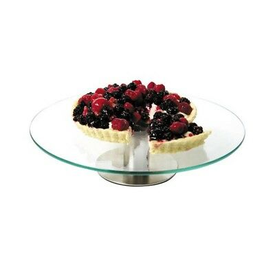 Revolving Rotating Glass Cake Stand For Cake Decorating or Display 30cm