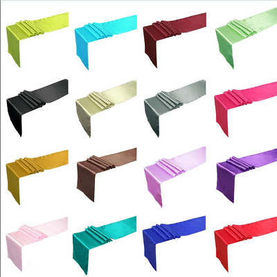 """NEW Soft Satin Table Runner 12"""" x 108"""" Wedding Party Supply Venue Decorations"""