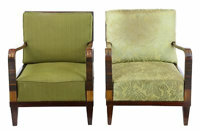 PAIR OF 1920's ART DECO BIRCH LOUNGE CHAIRS
