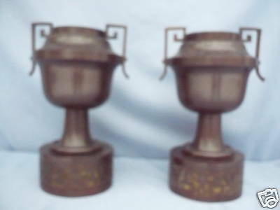 2 beautiful, very antique Pillars__decorative vases____