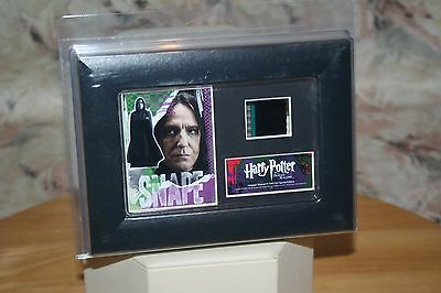 """Harry Potter Deathly Hollows """"snape"""" Minicell & Image Framed Alan Rickman New!"""