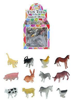 10x Children's Kidz Mini Toy Farm Animal Play Figures Figurines Cow Pig Sheep...