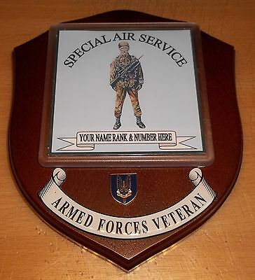 Special Air Service Veteran Wall Plaque with name, rank and number