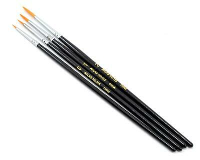 ABS155-4PS Atlas Brush Taklon Detail Acrylic Round Brush Set (4)