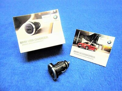 Genuine BMW USB Charger NEW X1 X3 X5 X6 e53 e70 e71 e83 e84 Adapter Lighter