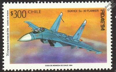 SUKHOI Su-30 FLANKER-C Aircraft Mint Stamp (1994 Chile)