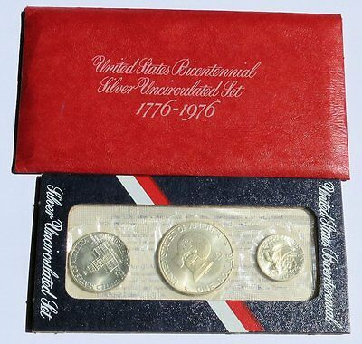 1776 1976 United States Bicentennial Silver Uncirculated Set Argento dollar coin
