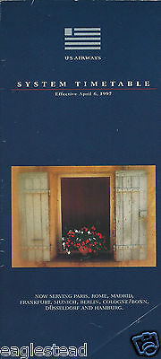 Airline Timetable - US Airways - 06/04/97 - Europe Destinations cover - Air