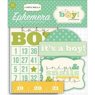 Carta Bella ~ IT'S A BOY ~ Ephemera Die Cuts