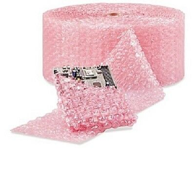 "1/2"" Large Bubble Cushioning Wrap Anti-Static Roll Padding 500' x 12"" Wide 500FT"