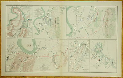 Authentic Civil War Map~Brown'S Ferry~Chattanooga-Ringgold~Red River Cmpgn-1863