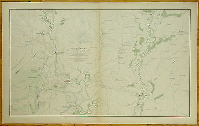 Authentic Civil War Map ~ Red River Campaign - 1864
