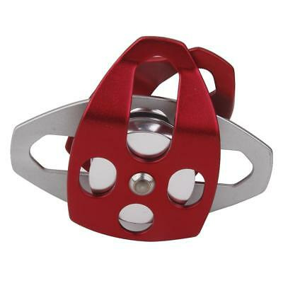 Large Double Pulley Aluminum Ball Bearings For Rescue / Rock Climbing Equip