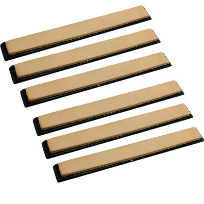 6x Leather Strop W/ Base Hone Finer Polishing Sharpener For Shave Razor Knife