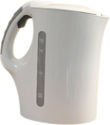 Quest - Household/Caravan (1.7Litre) Low Wattage Cordless Travel Kettle - White