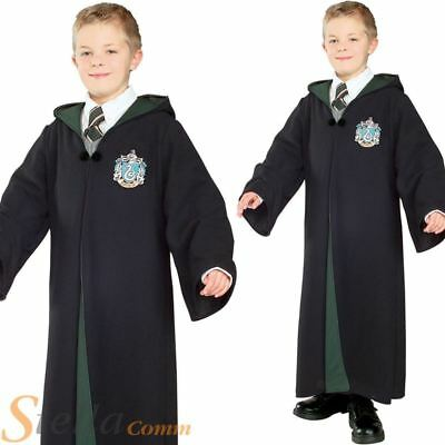 Boys Harry Potter Costume Fancy Dress Slytherin Wizard Halloween Child Outfit