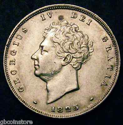 1825 George Iv Bare Head Shilling Graded Cgs 40 Spink 3812 Tamper Proof Holder