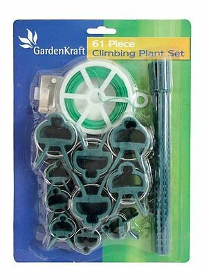 Job Lot Clearance Brand New 20 Garden Plant Clips & Tie Set Wholesale