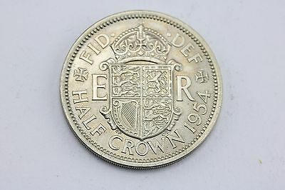 1954 Queen Elizabeth II Pre Decimal Half Crown Coin Piece Lot G