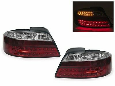 *** DEPO JDM Euro Red / Clear LED Rear Tail Lights For 2002-2003 Acura TL Type-S